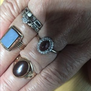 10K Solid Gold ring bundle of four